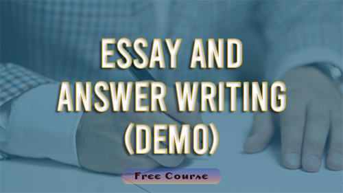 Essay and Answer Writing(Demo)
