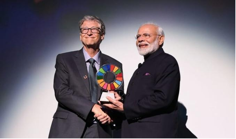 PM Modi conferred with 'Goalkeeper Award' for Swachh Bharat Abhiyan